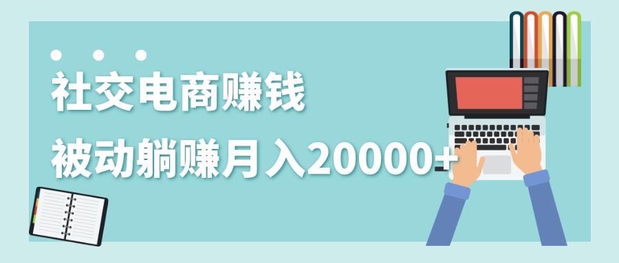 社交电商被动躺赚月入20000+