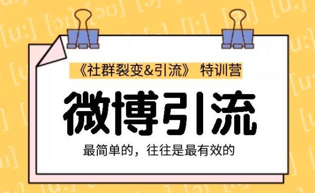 胜子老师微博引流2.0课程视频