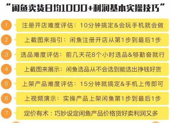 财神大咖会1天1000+利润闲鱼卖货小项目
